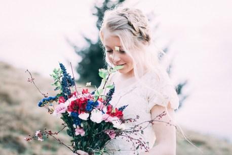 美しい, 花, 花嫁, 白いドレス, アウトドア, 女の子, 夏, 女性, 花束, 明るい, 夏時間, 人
