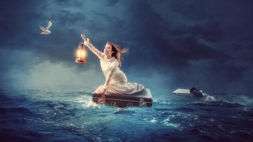 水, 海, 空, アウトドア, 自然, 旅行, 波, 自由, レクリエーション, 人, 海の中, 女の子