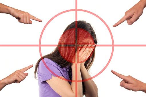 Bullying, Woman, Face, Stress, Shame