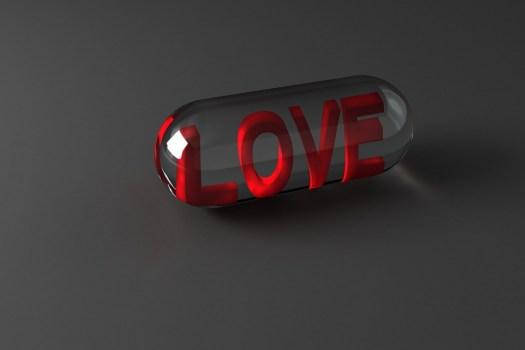 Pillola, Di, Amore, Simbolo, Amare, San Valentino