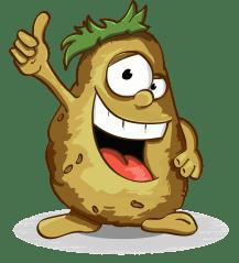 Potatoes, Smile, Thumbs Up, Character, Cartoon