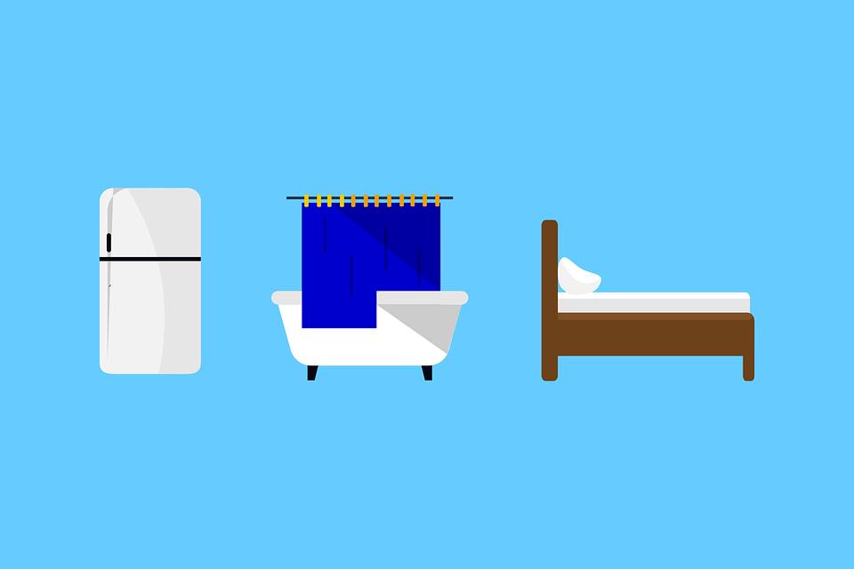 kitchens and baths denver soup kitchen volunteer 厨房浴室卧室 免费矢量图形pixabay 厨房 浴室 卧室 房地产 住房 首页 蓝色 浴 浴缸 淋浴 冰箱 家电 床