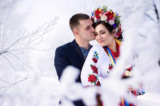 Winter, Happiness, Snow, Ukraine, Couple