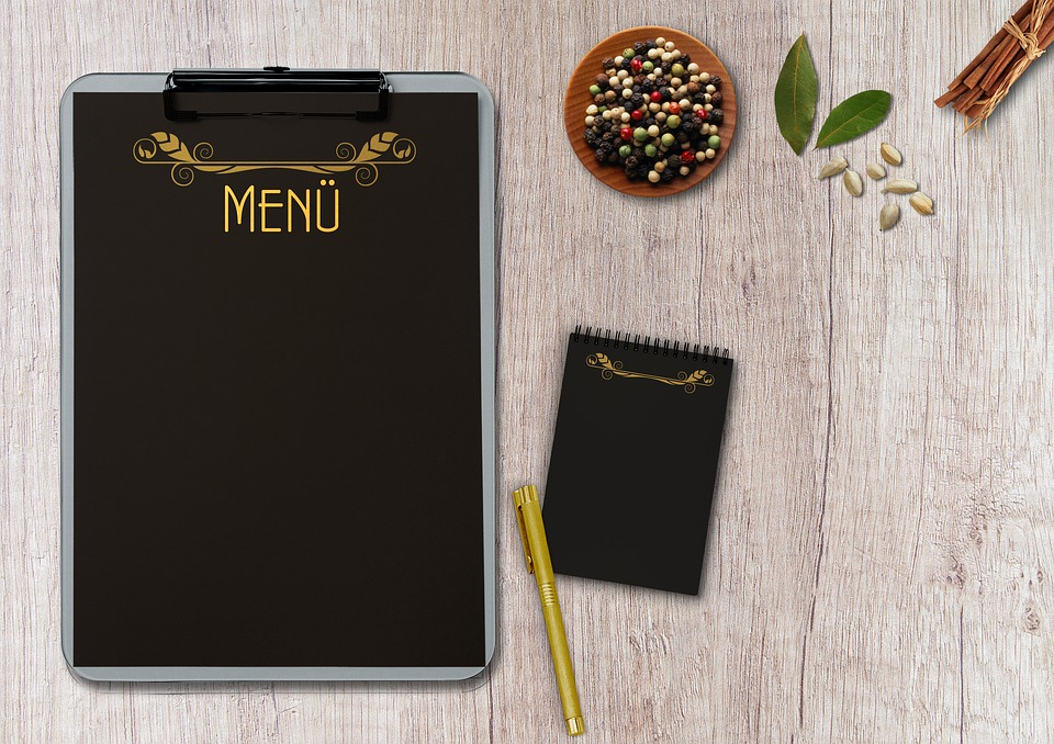Menu Writing Pad Table Terminal  Free photo on Pixabay