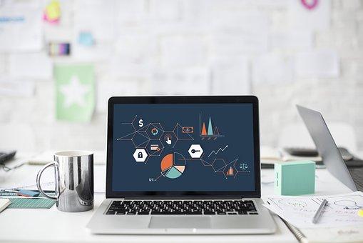 ラップトップ, コンピュータ, 技術, 監視, インターネット, ビジネス