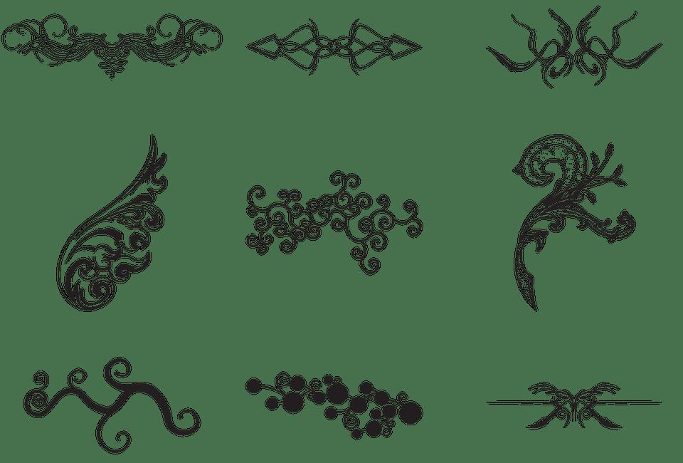 swirls symbols design free