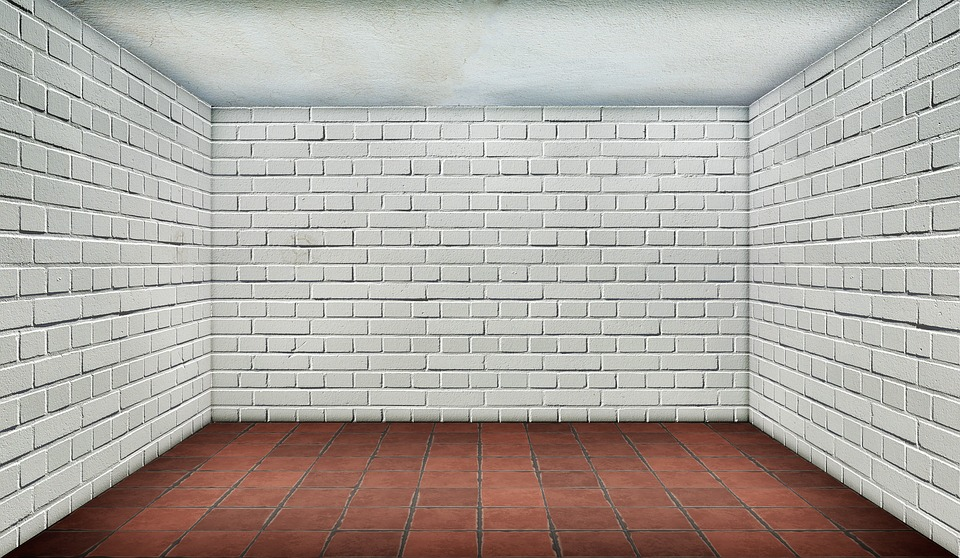 brick floor kitchen cheapest place to buy cabinets space empty · free photo on pixabay