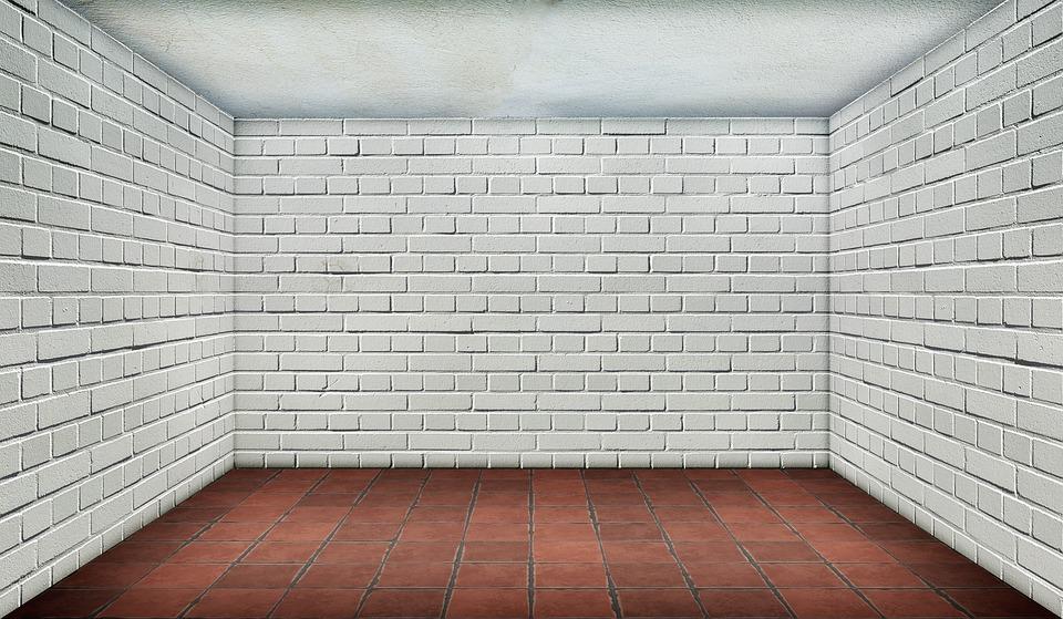 brick floor kitchen narrow islands space empty · free photo on pixabay