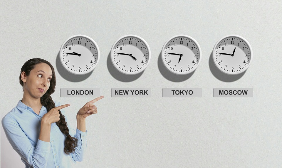 stock exchange time clock
