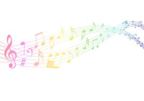 Rainbow, Notes, Music, Flow