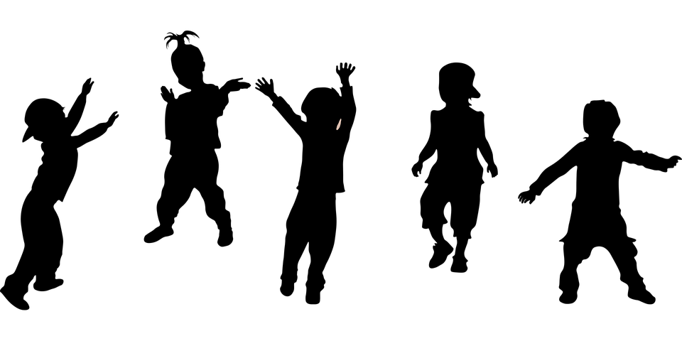 Kids Silhouette Party · Free vector graphic on Pixabay