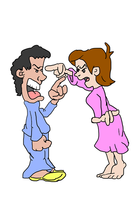 Argumento, argumentar, luta, luta, bicker, par