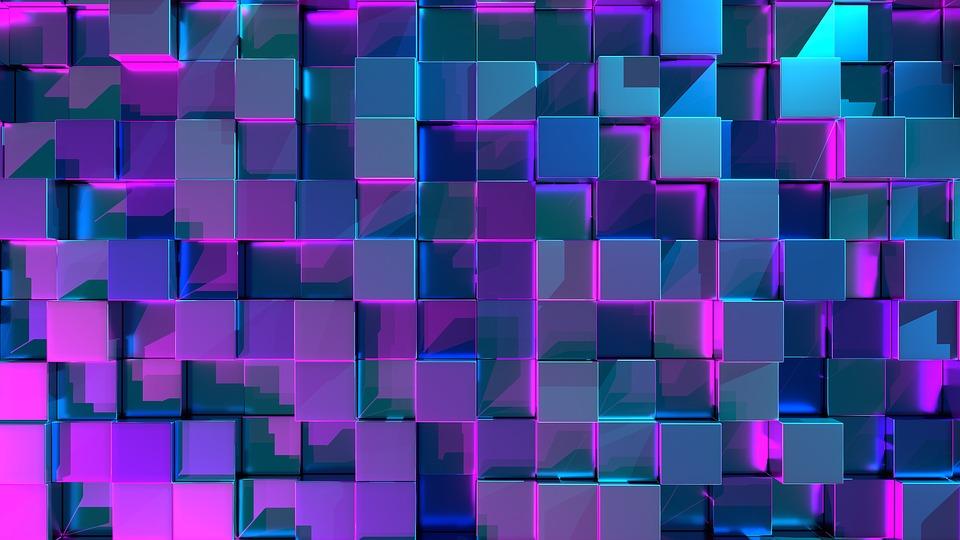 cube 3d arriere plan fond image