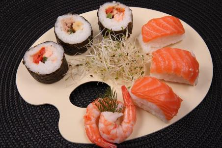 Aliments, Riz, Fruits De Mer, Poisson, Saumon, Sushi