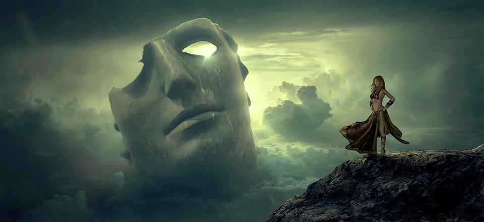 Free Fall Desktop Wallpaper Widescreen Fantasy Mask Clouds Free Photo On Pixabay