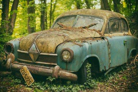 Auto, Pkw, Junkyard, Scrap, Rust