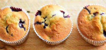 Muffins, Blaubeermuffins, Gâteau
