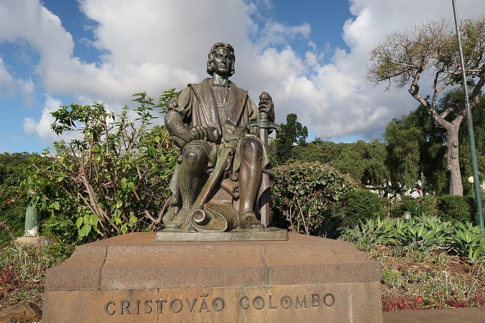 Cristoforo Colombo, Statua, Madeira
