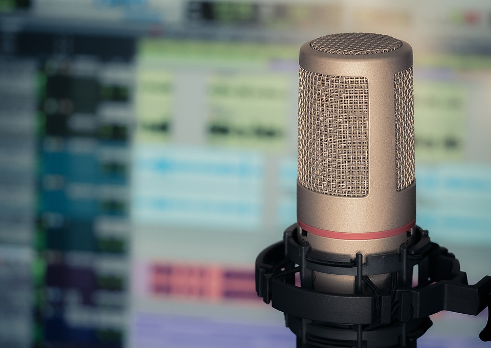Microfone, Som, Computador, Entrevista, Repórter