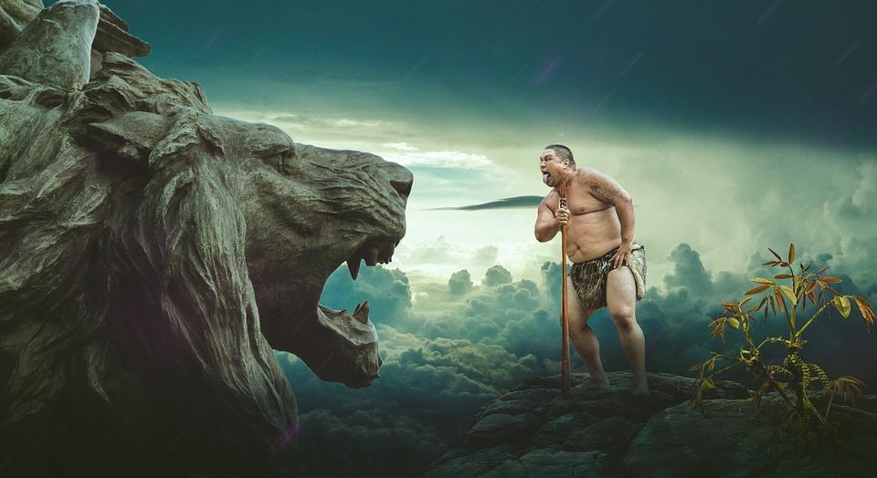 Gambar Tribal Singa