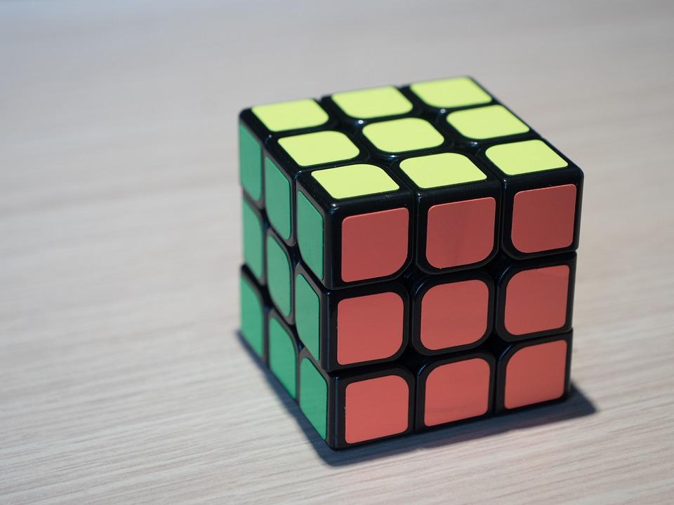 ルービックキューブ, キューブ, 黄色, パズル, ルービック