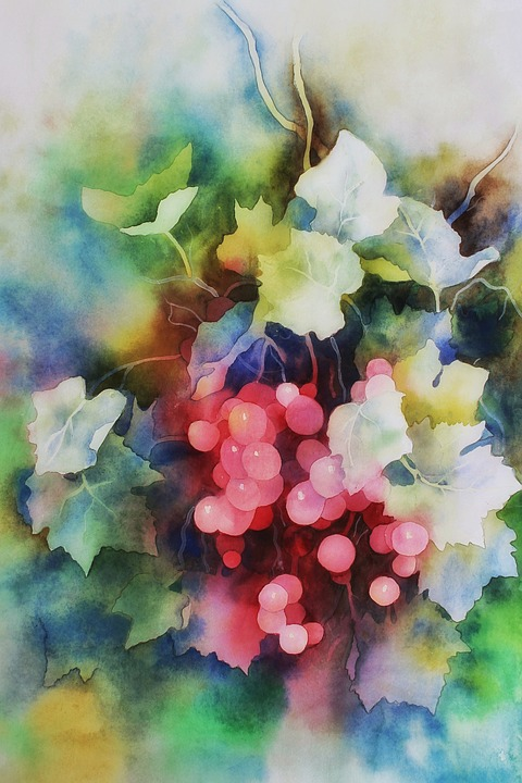 Gambar Lukisan Cat Air : gambar, lukisan, Berry, Lukisan, Gambar, Gratis, Pixabay