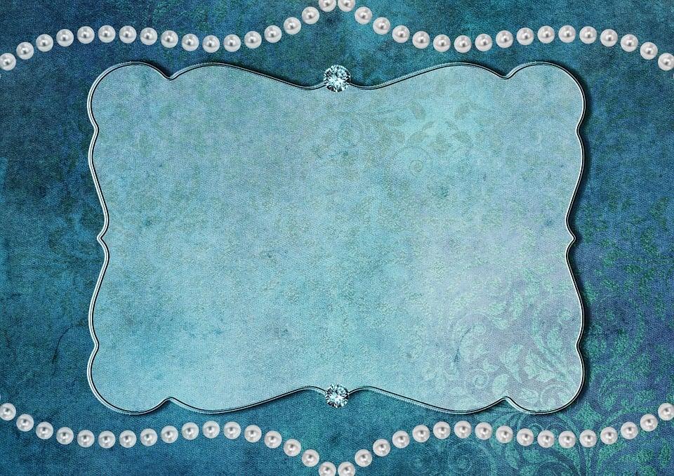 turquoise kitchen decor st charles steel cabinets 珠框架背景 pixabay上的免费图片 珠 框架 背景 钻石 装饰 蓝色 高贵 绿松石 白 贺卡 留言簿 婚礼 生日 迎接