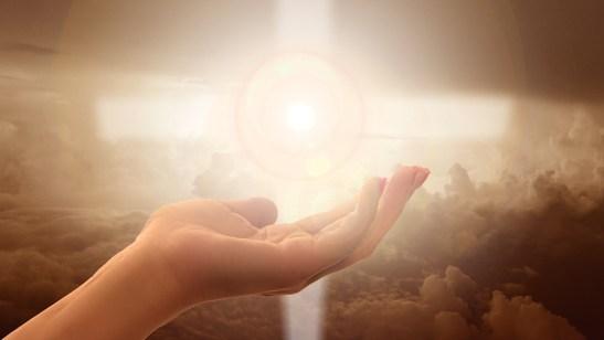 宗教, 信仰, クロス, ライト, 手, 信頼, 神様, 祈る, 祈り, 平和, 魂, 自由, 霊性