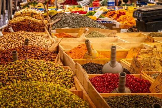 Mercato, Stare In Piedi, Spezie, Cibo