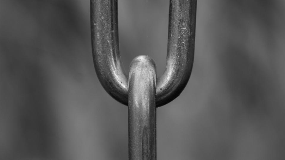 ネックレス, リンク, 接続されています, 鉄チェーン, 鉄, 金属, 静物, ロック, 修正する, 鋼