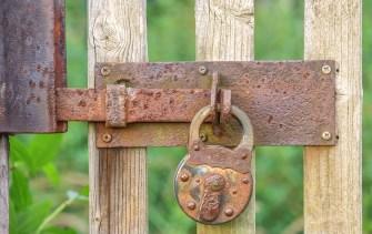 Garden, Goal, Castle, Wooden Gate, Rusty, Metal, Iron