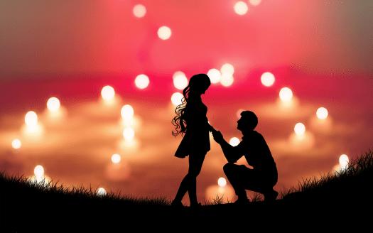 Amore, Una Coppia Di Amanti, Silhouette, Proposta