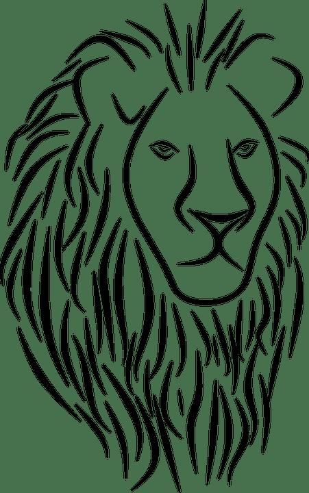 Gambar Singa Hitam Putih : gambar, singa, hitam, putih, Singa, Gambar, Vektor, Gratis, Pixabay