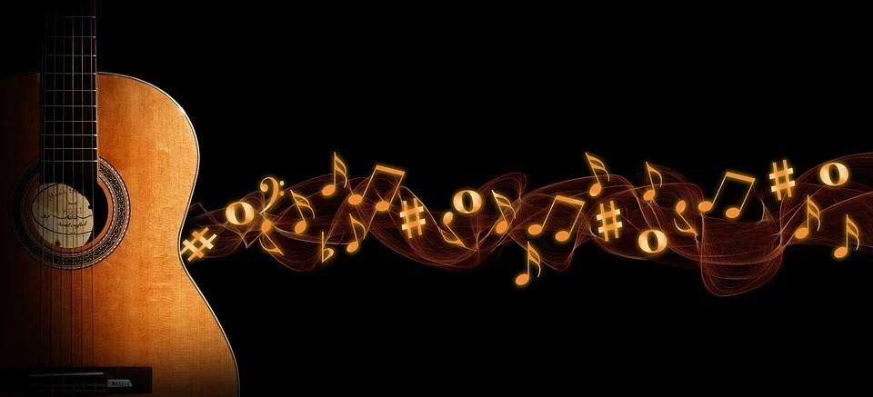 guitar music bokeh free