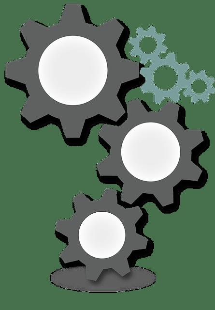 ฟันเฟือง ล้อ เกียร์ กราฟิกแบบเวกเตอร์ฟรีบน Pixabay