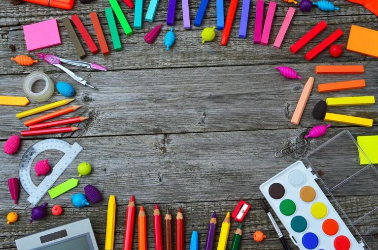 School Tools, Color, Crayon, Paint, Brush, Tool