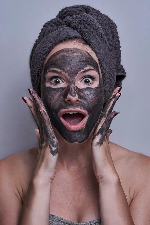 Woman, Portrait, Facemask, Scared, Amazed, Eyes, Mask