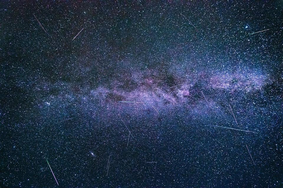 流れ星, ペルセウス座流星群, 銀河, 満天の星空, 夜の空, スター, 夜, 天の川, 空, スペース