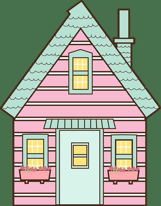 Rumah Vektor Png : rumah, vektor, Manis, Rumah, Kabin, Gambar, Vektor, Gratis, Pixabay