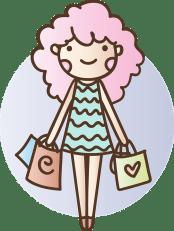 Kauf, Tasche, Mädchen, Frauen, Kleid, Glücklich, Rosa