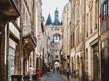 Bordeaux, France, Building, Street