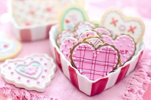 Valentinstag, Valentine, Cookies, Herzen