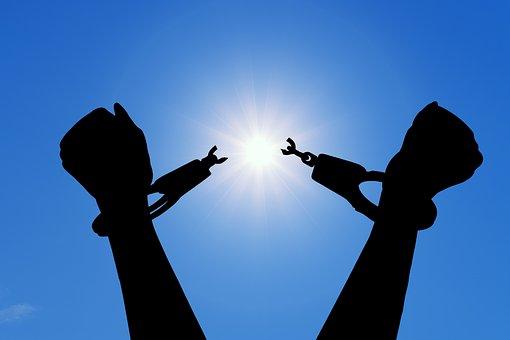 Freedom, Break, Handcuffs, Happiness, liberation