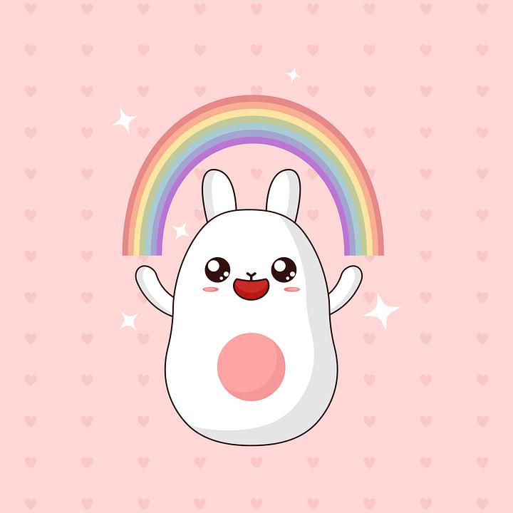 Cute Drawing Wallpaper Download Kawaii Cute Rabbit Free Vector Graphic On Pixabay