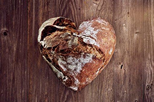 Bread, Love, Heart, Bake, Baker, Bakery