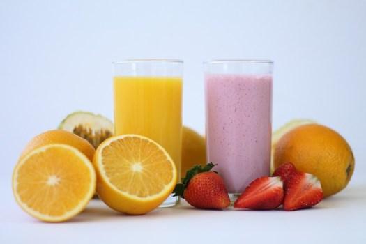 Succo, Frutta, Orange, Fragola