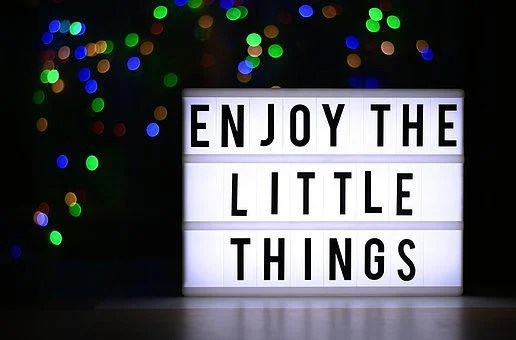 The Little Things Of Life, Enjoy