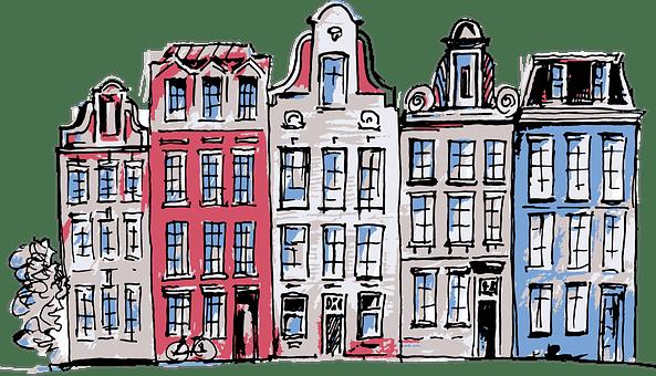 Amsterdam, Netherlands, Houses, Street