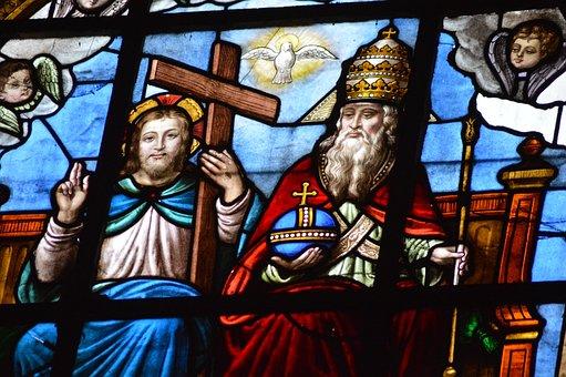 Stained Glass, Window, Church, Trinity
