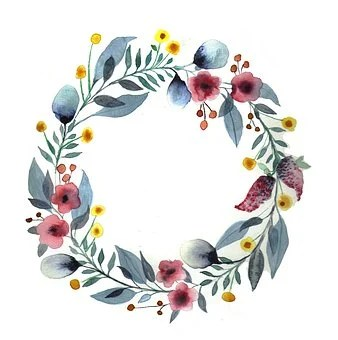 100 free floral wreath